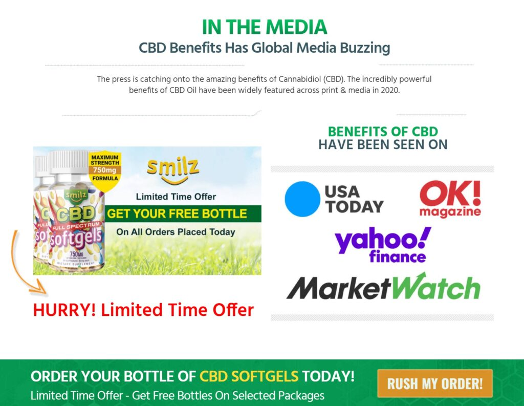 Smilz CBD Softgels Will Full Spectrum – Relaxation at its Finest
